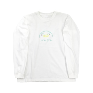 半月ペンギン Long sleeve T-shirts