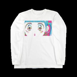 mogのお目目きらきらちゃん2 Long sleeve T-shirts