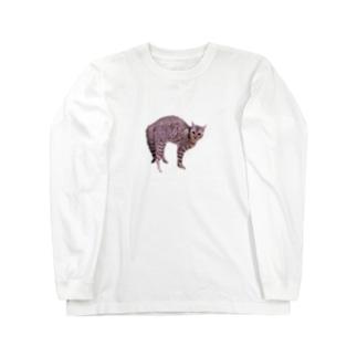 へんなかたちのねこ Long sleeve T-shirts