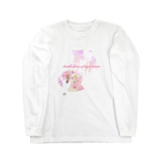 花のように愛を育てましょう Long sleeve T-shirts