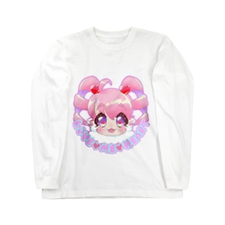 love me heart(ピンク) Long sleeve T-shirts