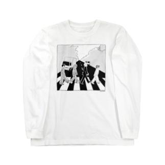 ザ・生きてるズ「アビーロード」パロディ Long sleeve T-shirts