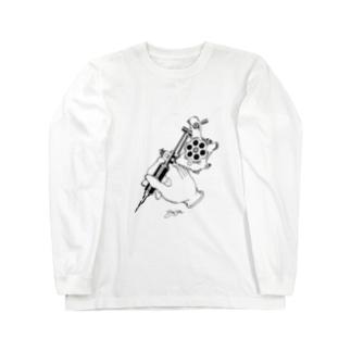 ハンドマシン Long sleeve T-shirts