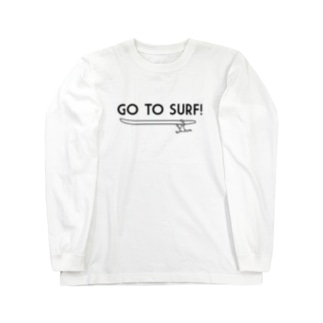 GO TO SURF black Long sleeve T-shirts