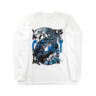 RepGirl コバルトツリーモニター Long sleeve T-shirts