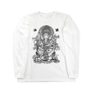 ガネーシャ tシャツ Long sleeve T-shirts