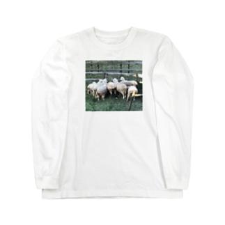 ひつじのおしりズ Long sleeve T-shirts