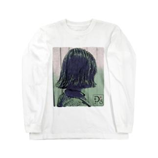 shampooうねり Long sleeve T-shirts