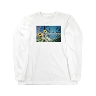 花火大会の向日葵 Long sleeve T-shirts
