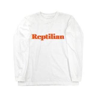 Reptilian ヒト型爬虫類 グッズ Long sleeve T-shirts