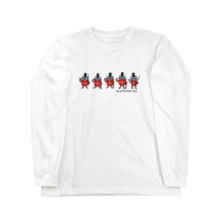 護衛カエル Long sleeve T-shirts
