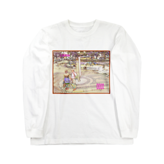 FUCHSGOLDのCG絵画:リシュボアの風景 CG art: Lisboa (Lisbon) Long sleeve T-shirts