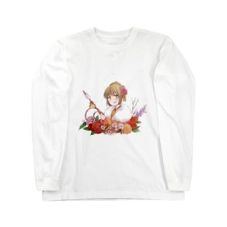 着物美人 『冬』 Long sleeve T-shirts