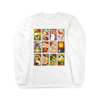 兎花札 Long sleeve T-shirts