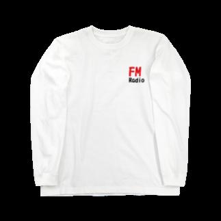 アメリカンベースのFM ラジオ  Long sleeve T-shirts