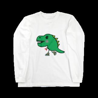 chyumonの恐竜スケーター Long sleeve T-shirts