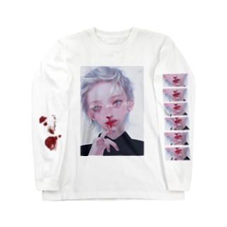 鼻血くん~ Long sleeve T-shirts