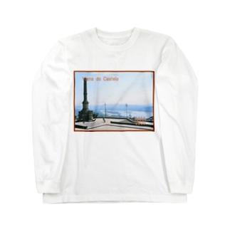 ポルトガル:ヴィアナ・ド・カステロの風景写真 Portugal: Rio Lima / Viana do Castelo Long sleeve T-shirts