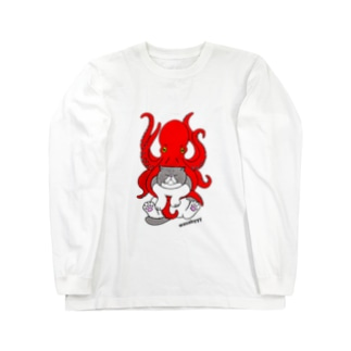 わさび&タコ Long sleeve T-shirts