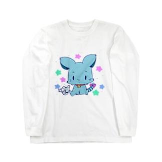 青ペットくん Long sleeve T-shirts