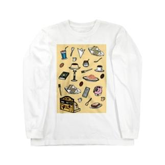 純喫茶 いろどり 背景つき Long sleeve T-shirts