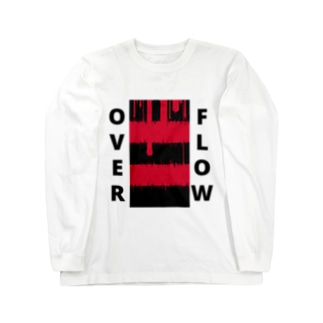 OVER FLOW(Red) Long sleeve T-shirts
