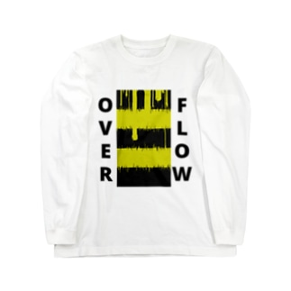 OVER FLOW(Yellow) Long sleeve T-shirts