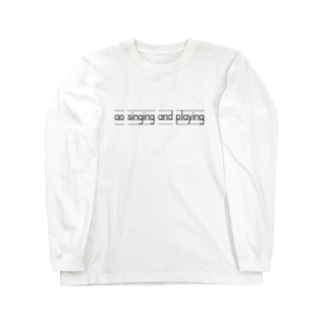 ao singing and playing English Long sleeve T-shirts