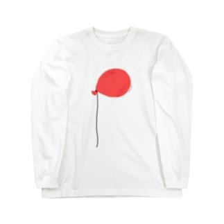 天井についた赤い風船 Long sleeve T-shirts