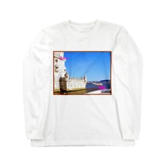 ポルトガル:ベレンの塔 Portugal: Torre de Belém / Lisboa (Lisbon) Long sleeve T-shirts