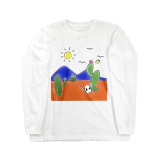 クマバチとメキシカンタイル Long sleeve T-shirts