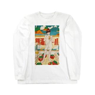 銭湯ガール ロングTシャツ Long sleeve T-shirts