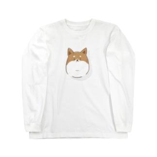 shibainu brown【NSpet's ware】 Long sleeve T-shirts
