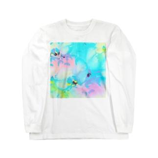 幸福が飛んでくる!イランの胡蝶蘭♡レインボー Long sleeve T-shirts