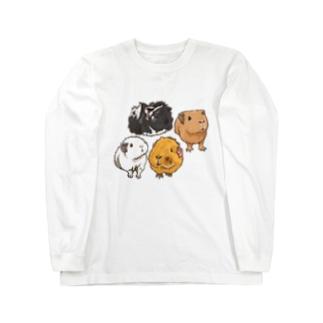 キャメルちゃん、ぷーちゃん、エルザちゃん、アスタちゃん Long sleeve T-shirts