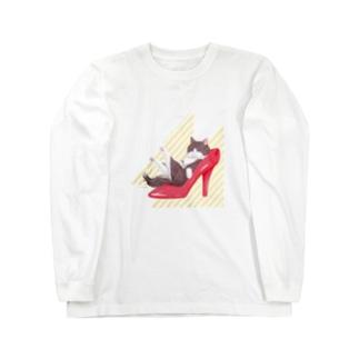 Heel cat Long sleeve T-shirts