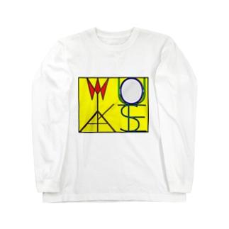 松明と鏡 色付きver Long sleeve T-shirts