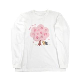 桜の木の下で Long sleeve T-shirts