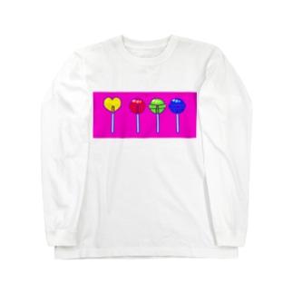 色と光のロリポップ Long sleeve T-shirts