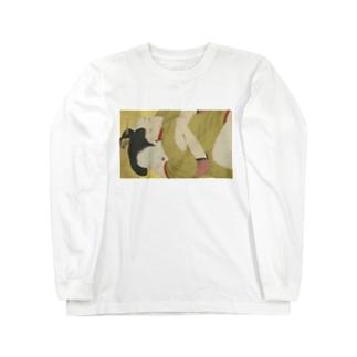浮世絵 抱擁 Long sleeve T-shirts