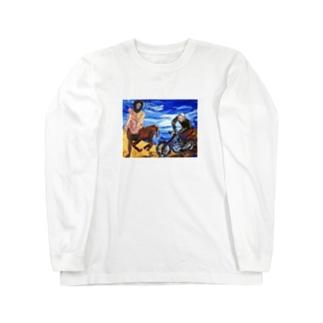 バッドアート バイクと競争ケンタウルス Long sleeve T-shirts