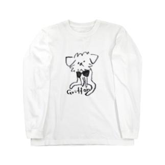 ゆるっとグリフォン(モノクロ) Long sleeve T-shirts
