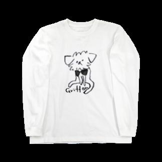 iccaのゆるっとグリフォン(モノクロ) Long sleeve T-shirts