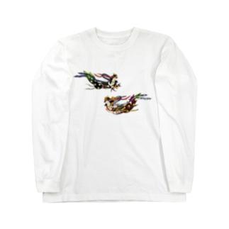 おばあちゃんの仏画 Long sleeve T-shirts