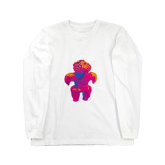 土偶坊や コーフンピンク Long sleeve T-shirts