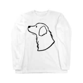 aya1のゴールデン・レトリーバー〈線〉 Long Sleeve T-Shirt