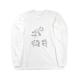 ちっちの小魚くん Long sleeve T-shirts