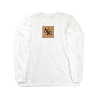 ヤモリ(暗茶) Long sleeve T-shirts
