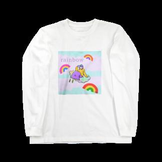 KonKonのレインボーガール Long sleeve T-shirts