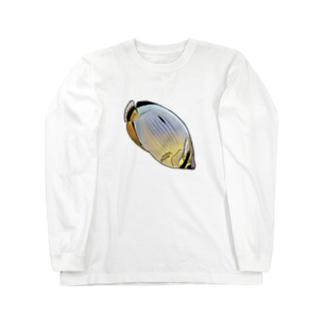 メロンバタフライフィッシュ Long sleeve T-shirts